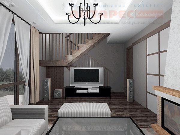 Дизайн интерьера коттеджа 150 кв.м