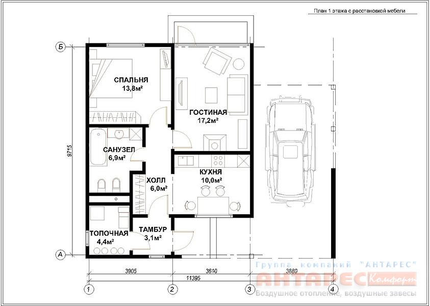 Проект одноэтажного дома Хай